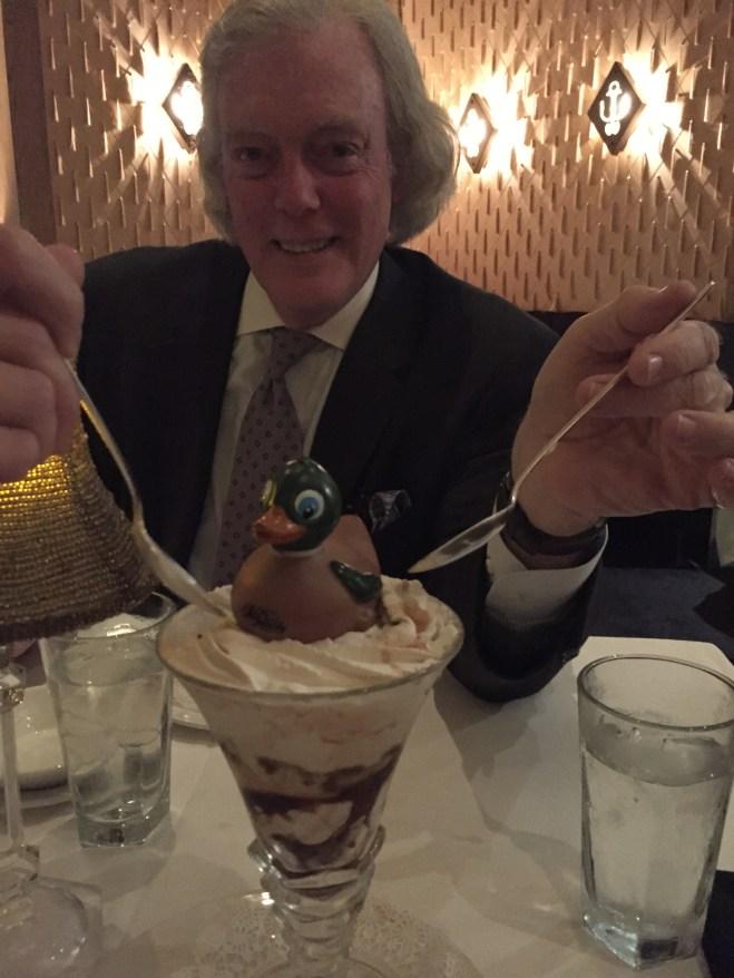 Bill and Mr. Peabody Pembroke get in on dessert