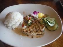 Wahoo fish and rice