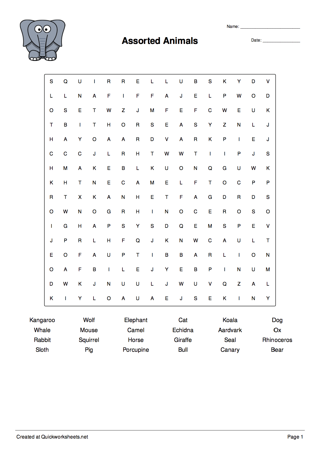 Word Puzzle Maker Worksheet
