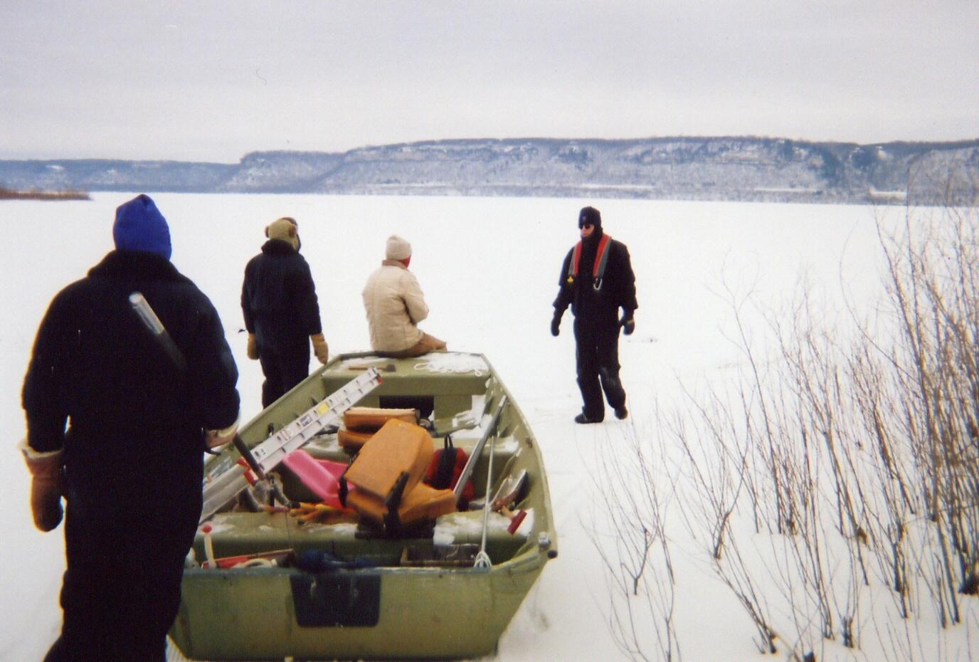 Ice Recovery Of DN From Lake Pepin