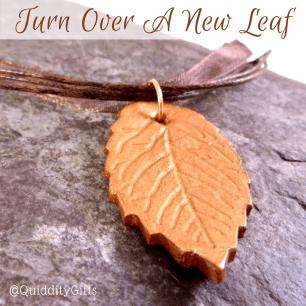 Metallic copper handmade leaf jewellery