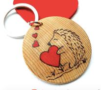 Hedgehog Keychain - ByHandHeart