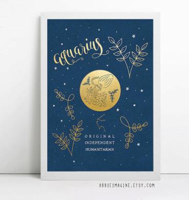 Zodiac art print by AbbieImagine