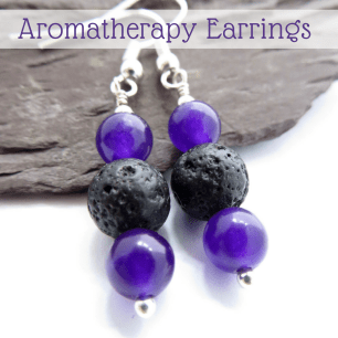 essential oil diffusing earrings by QuiddityGifts