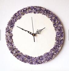 Amethyst clock by NaturalClocks