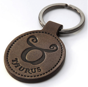 leather keychain by NairiLeatherFashion