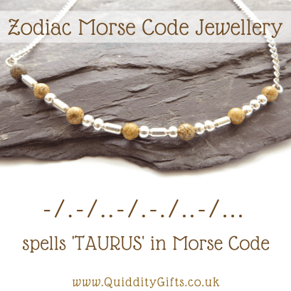 taurus morse code necklace