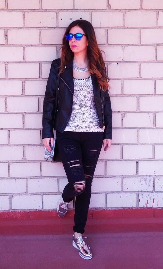 Look con zapatos plateados  Blog de Moda y tendencias