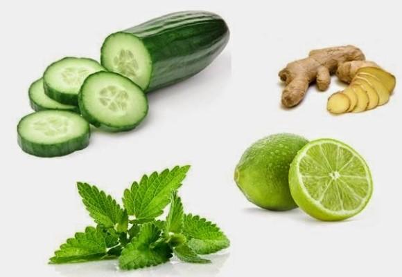 Jengibre limon y menta para adelgazar