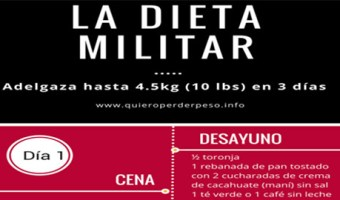 El Menú de la Dieta militar de 3 días