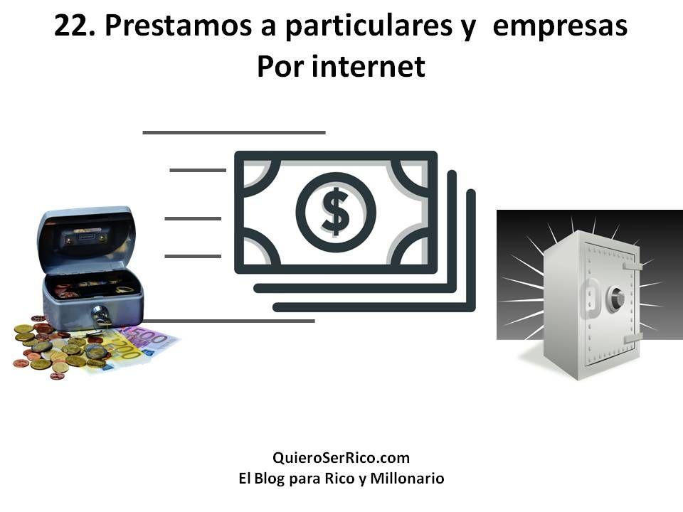 Préstamos a particulares y empresas por internet
