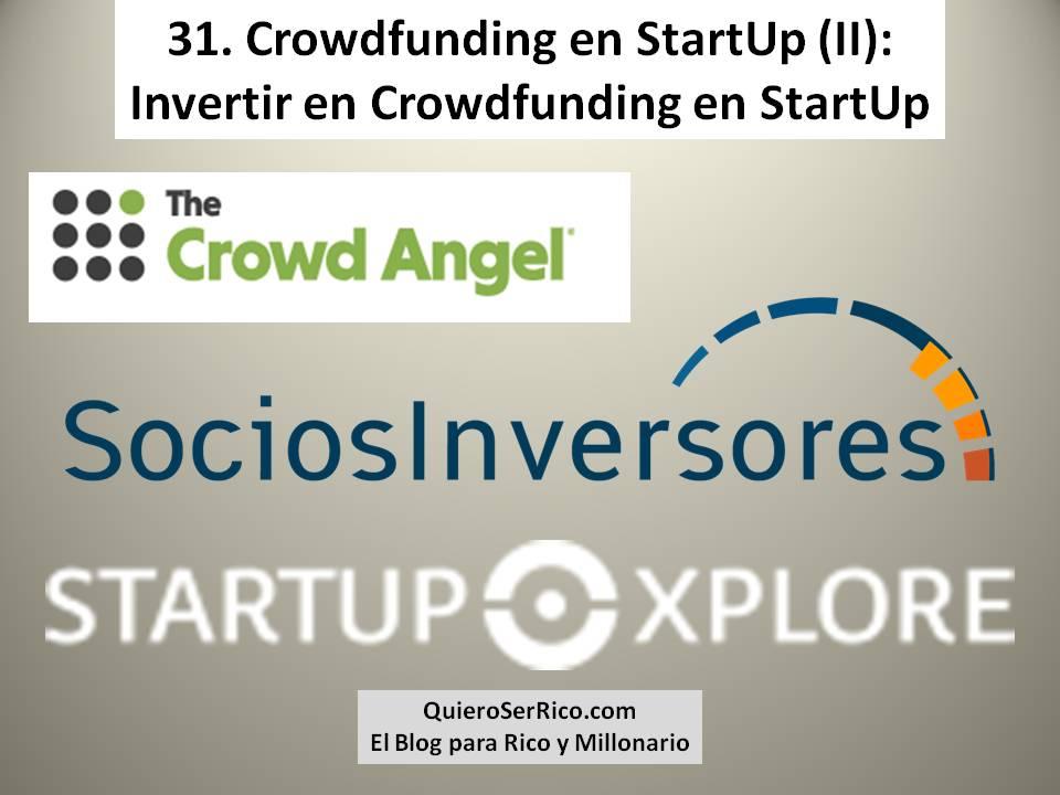 31 Crowdfunding en StartUp