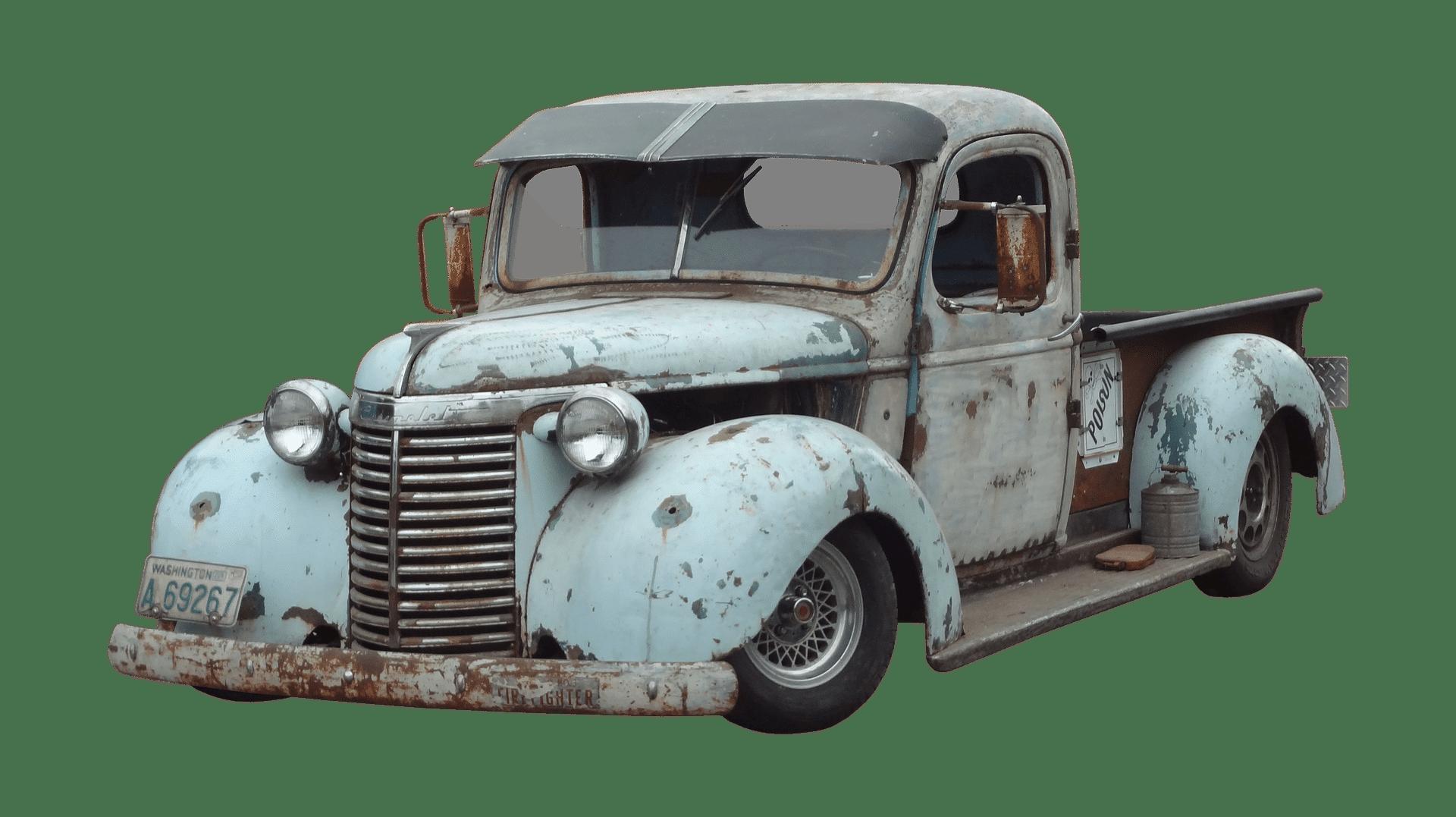 Comprar coche Consejos para ahorrar; imagen de un coche viejo