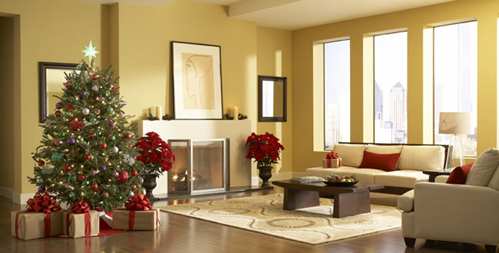 living room decoration photos. Christmas living room decorating ideas Quiet Corner