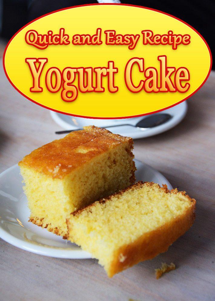 Easy Cake Recipes Yogurt