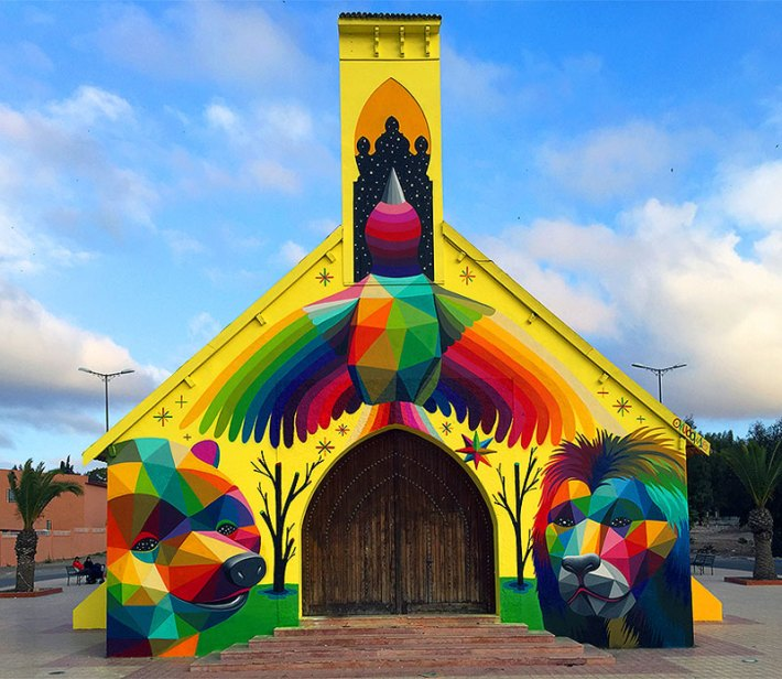 Abandoned-Church-Transformed-With-Colorful-Graffiti-2