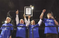 Human Domino Mattress Chain - Guinness World Record