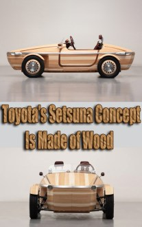 Toyota's Setsuna Concept Is Made of Wood