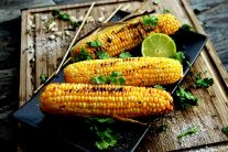 Grilled Corn on the Cob with Chili and Lime Recipe