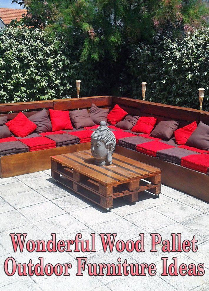 wonderful wood pallet outdoor furniture