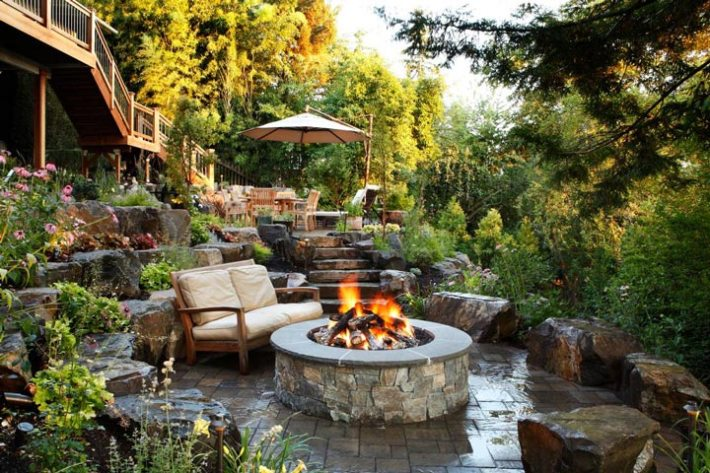sloping garden design ideas - Garden Design Ideas