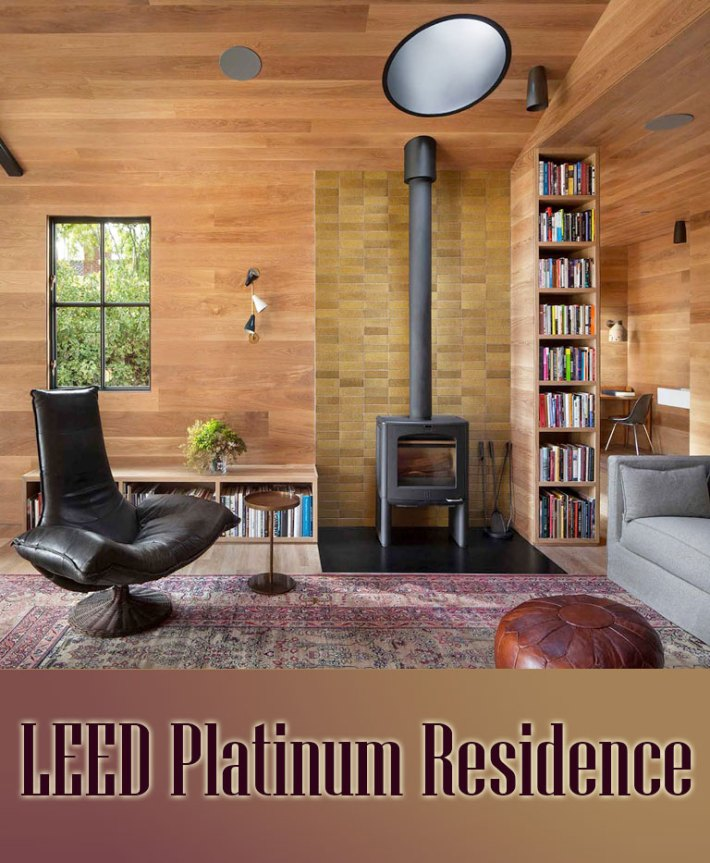 Quiet corner leed platinum residence whole home remodel for Leed platinum home