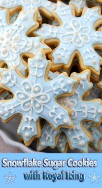 Snowflake Sugar Cookies with Royal Icing
