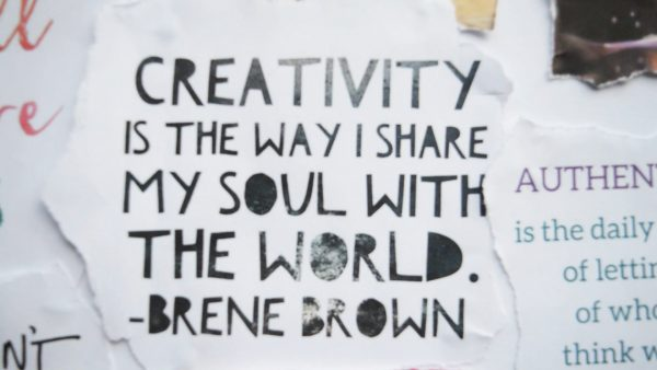 Creativity is how I share my soul with the world - Brene Brown