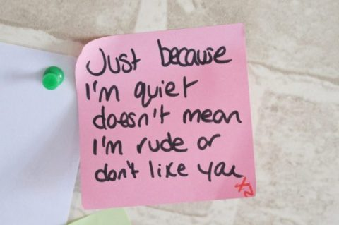 Just because I'm quiet doesn't mean I'm rude or don't like you