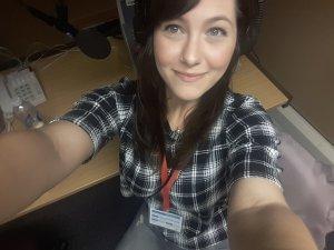 Stacie Clark at BBC Radio Cornwall