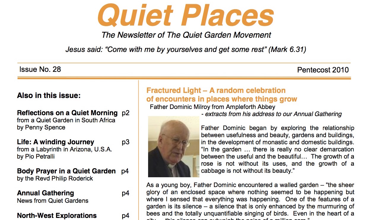 Quiet Places 28 – Pentecost 2010