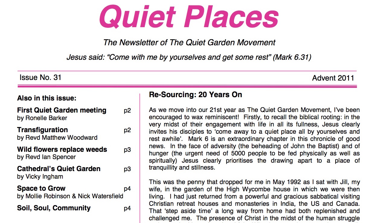 Quiet Places 31 – Advent 2011