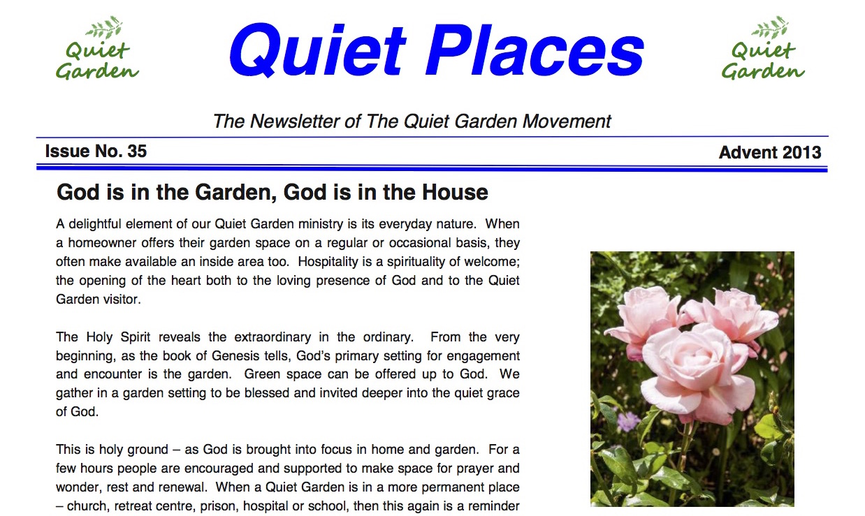 Quiet Places 35 – Advent 2013