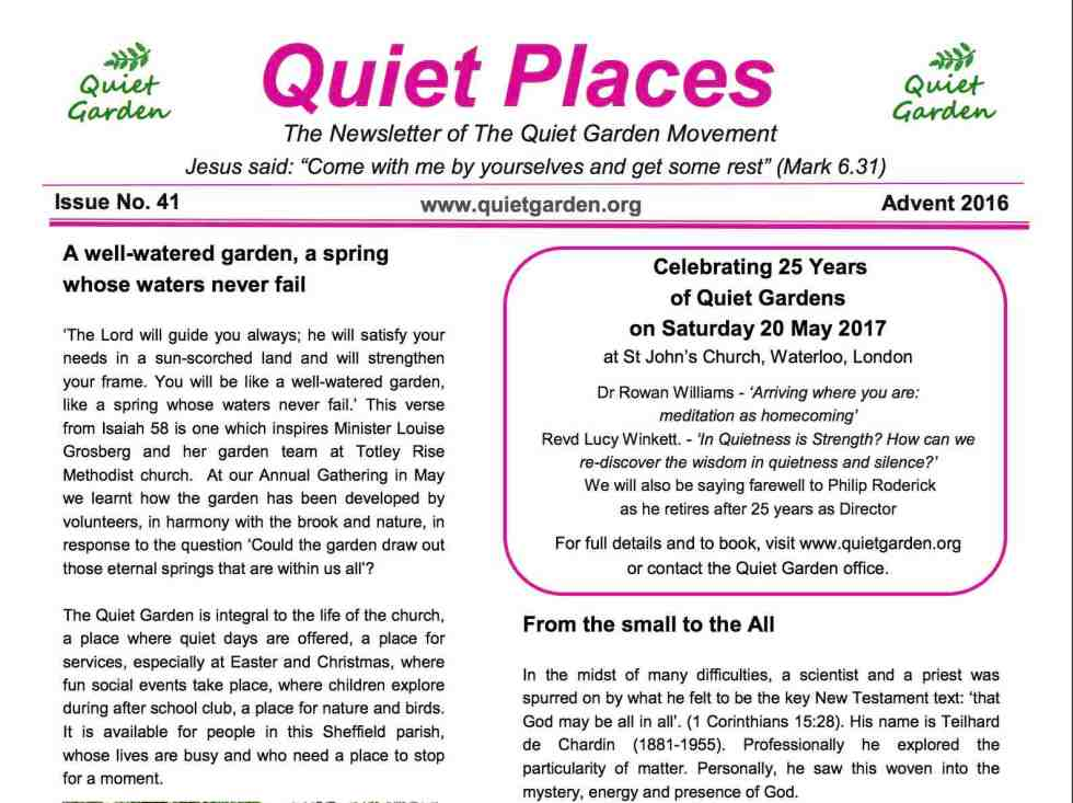 Quiet Places 41 – Advent 2016