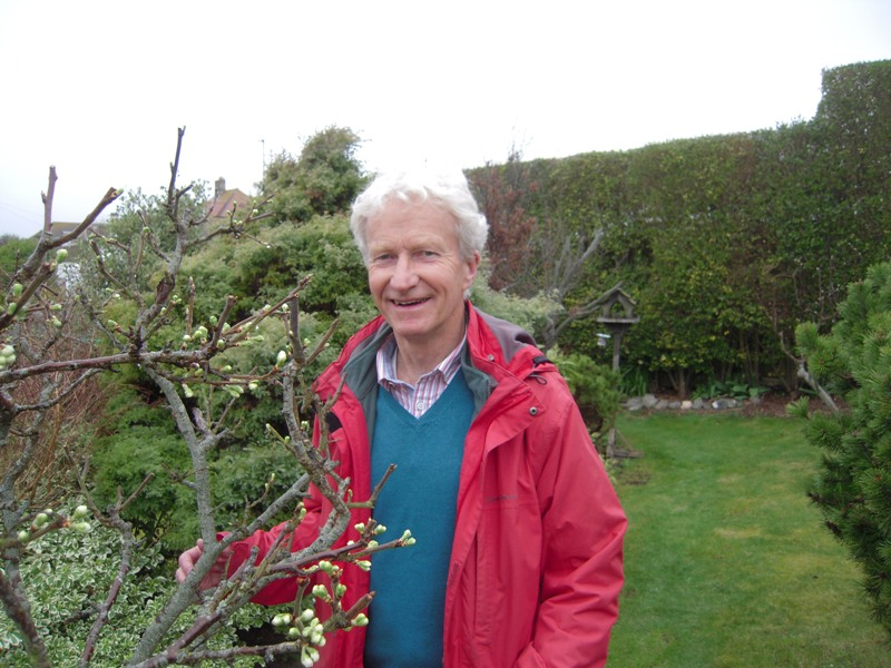 Revd Philip Roderick In The Moray Cottage Quiet Garden, In Saltdean, East Sussex