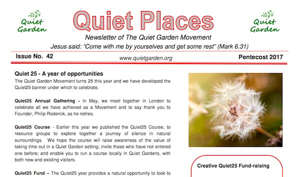 Quiet Places 42 – Pentecost 2017