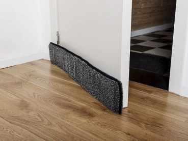 use mattress under door gap