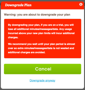 freedompop downgrade warning