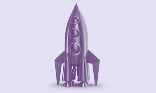 Image of a toy rocket illustrating a blog on the launch of our new website.