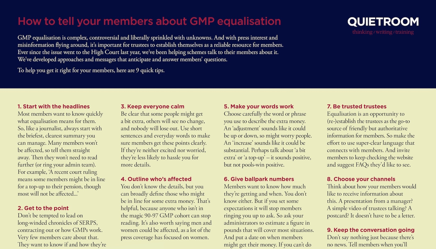 e42e66f84d Tips for talking to members about GMP equalisation