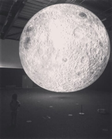 Exhibit on the moon