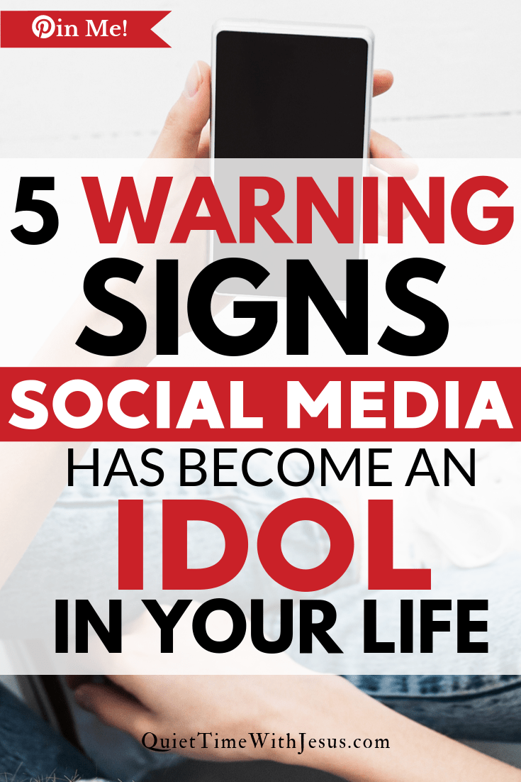 Social media has the power to consume and influence the people who use it. If may be time to consider if social media has become an idol in your life. QuietTimeWithJesus.com