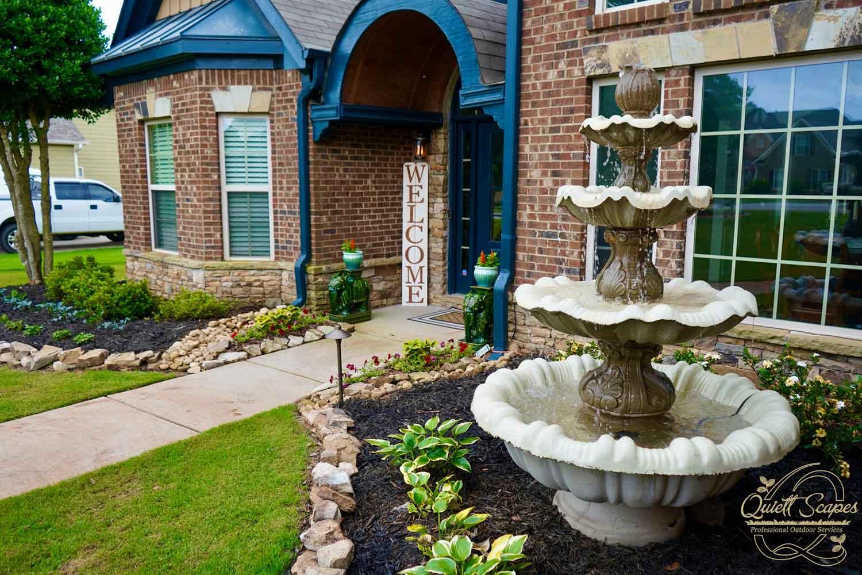 Water Fountain landscape by Quiett Scapes in Jefferson, GA