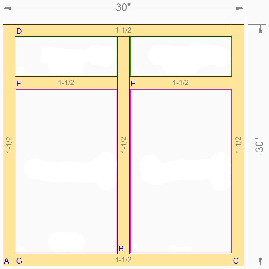 Standard Cabinet Face Frames  Prism Paints Custom Prism