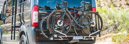 Quik Rack Mach2: Road bikes on a Dodge Ram Van