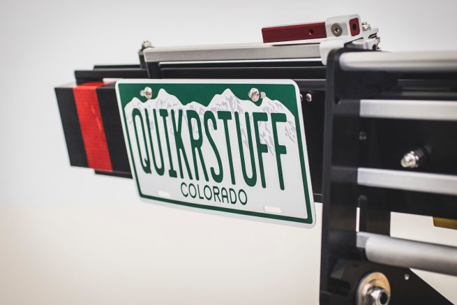 License Plate accessory - Quik Rack Mach2