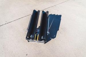 Mach2 Add-on folded in half for storage
