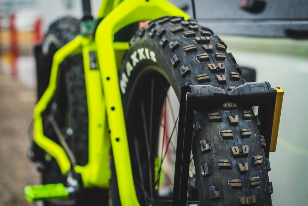 Fat tire close-up