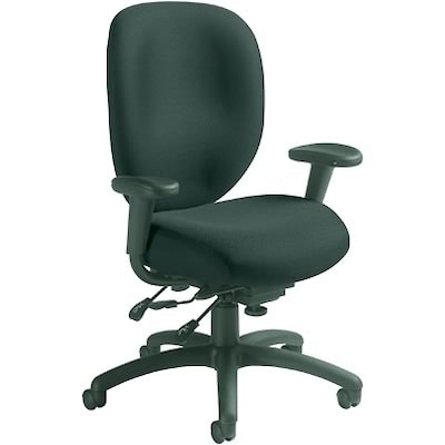 Task Chairs With Arms Global 9398 Series Ergo Task Chairs With Arms Black