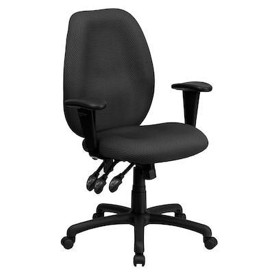 Task Chairs With Arms Flash Furniture High Back Fabric Multi Functional Ergonomic Task Chairs With Arms